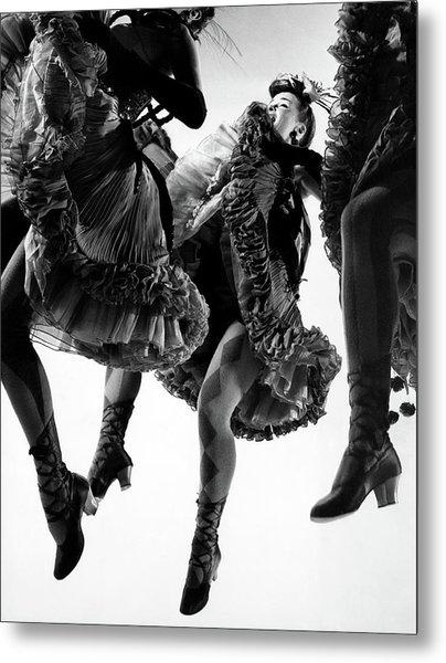 Nightmare Ballet In Original Oklahoma On Broadway Metal Print by Gjon Mili