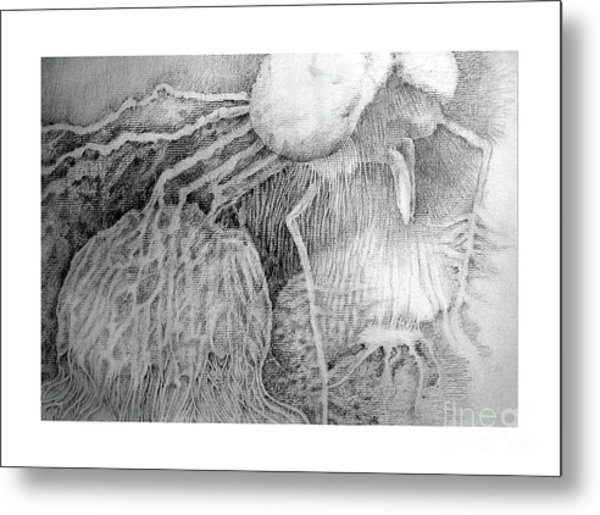 Metal Print featuring the drawing Nightmare by Rosanne Licciardi