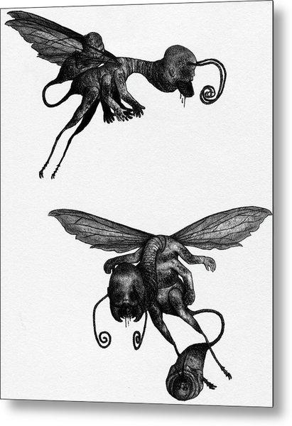 Nightmare Stinger - Artwork Metal Print