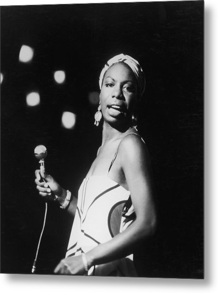 Nina In Concert Metal Print by Hulton Archive