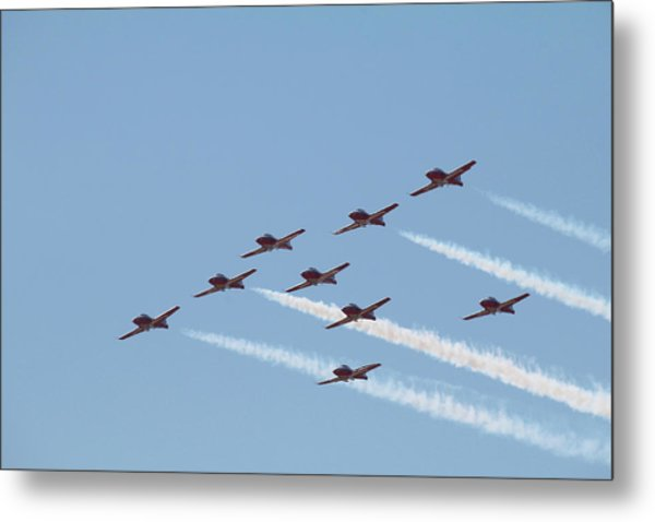 Nine Man Snowbird Formation Metal Print
