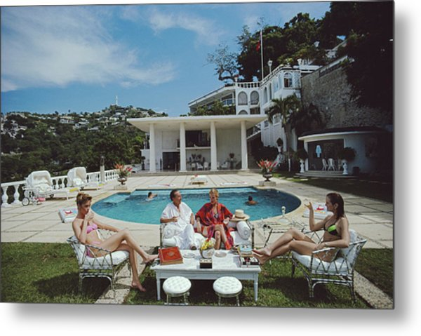 Nirvana Quartet Metal Print by Slim Aarons