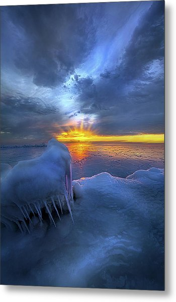 Metal Print featuring the photograph No Winter Skips Its Turn. by Phil Koch