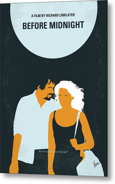 No1013 My Before Midnight Minimal Movie Poster Metal Print