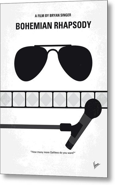 No1038 My Bohemian Rhapsody Minimal Movie Poster Metal Print