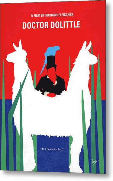 No1048 My Doctor Dolittle Minimal Movie Poster Metal Print