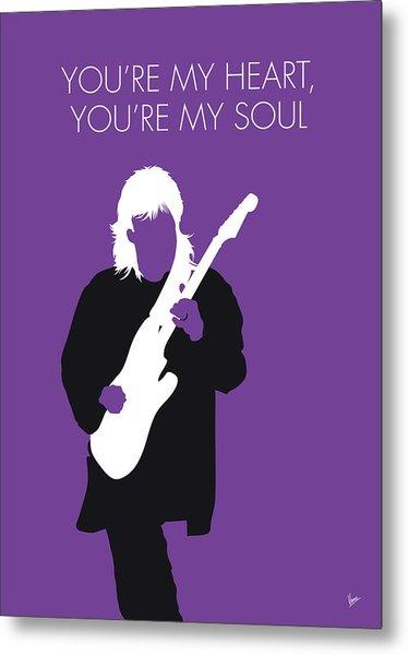 No281 My Modern Talking Minimal Music Poster Metal Print