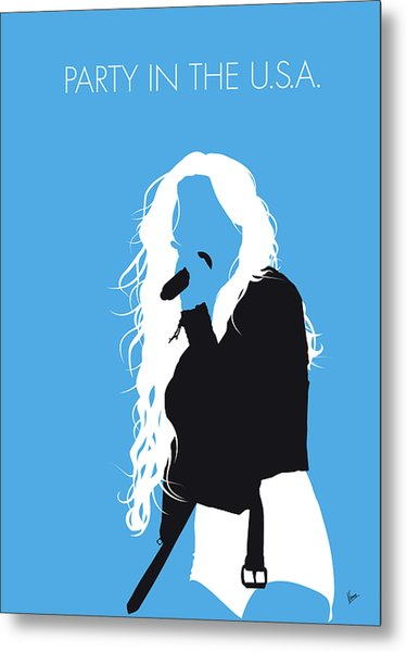 No299 My Miley Cyrus Minimal Music Poster Metal Print