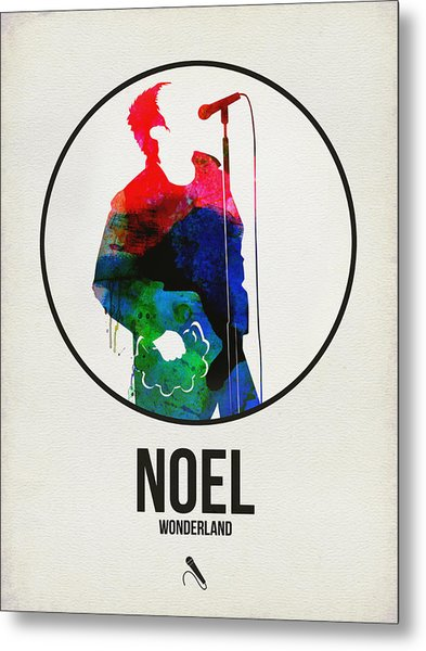 Noel Gallagher Watercolor Metal Print