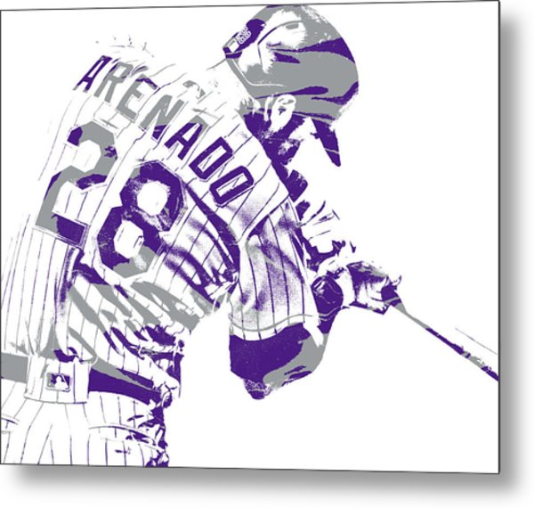 Nolan Arenado Colorado Rockies Pixel Art 20 Metal Print