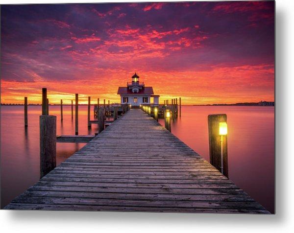 North Carolina Outer Banks Manteo Lighthouse Obx Nc Metal Print