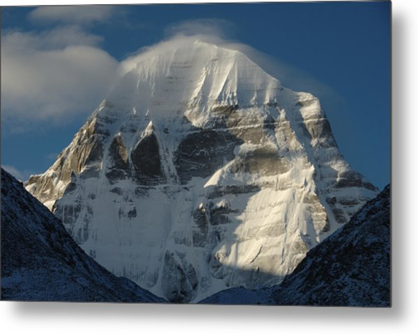 North Face Of Mount Kailash Gang Metal Print by Tcp