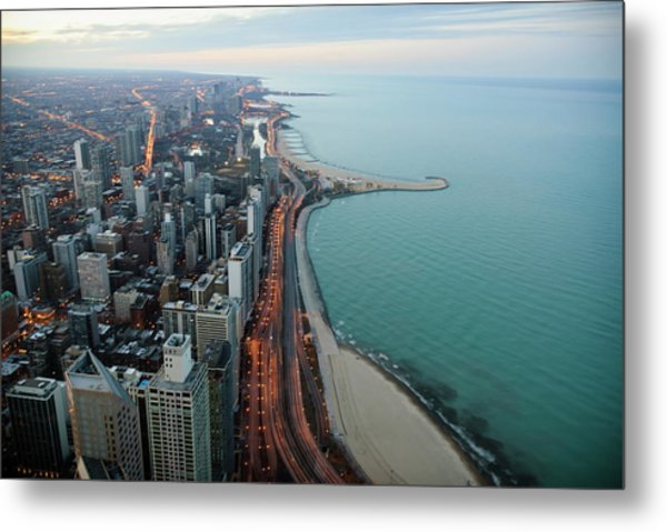 North Lake Shore Drive Metal Print by By Ken Ilio