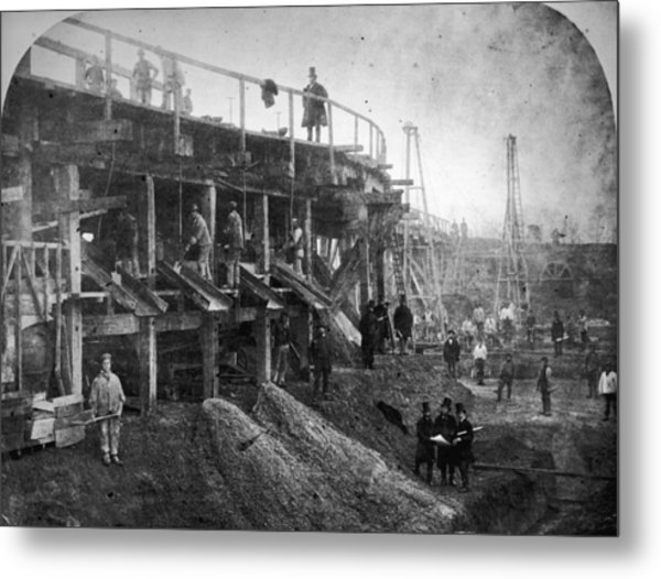 Northern Outfall Sewer Metal Print by Otto Herschan Collection