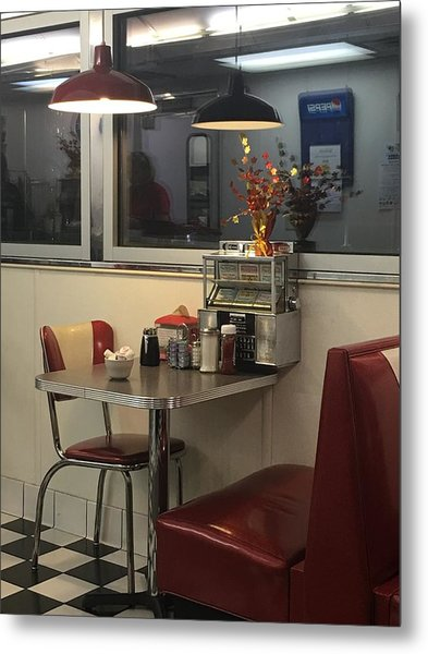 Metal Print featuring the photograph Nostalgic Diner by Expressive Landscapes Fine Art Photography by Thom