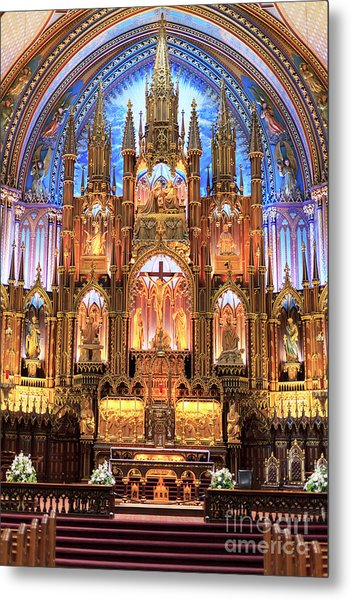 Notre Dame Interior Montreal Metal Print