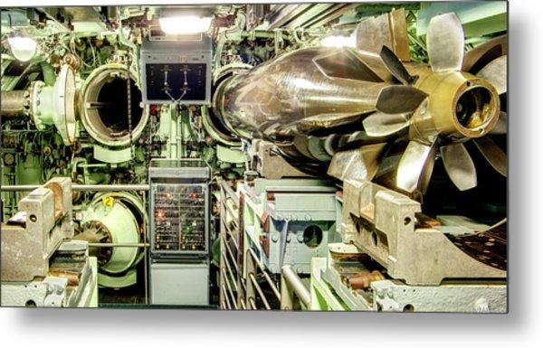 Nuclear Submarine Torpedo Room Metal Print