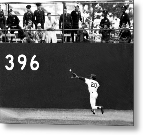 N.y. Mets Vs. Baltimore Orioles. 1969 Metal Print by New York Daily News Archive