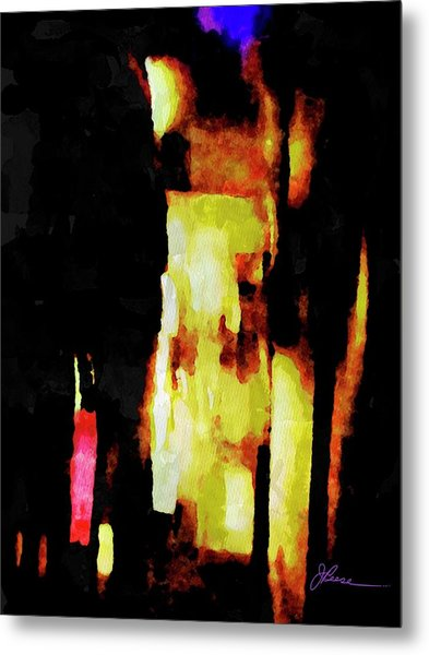 Metal Print featuring the painting Ny Verve 2 by Joan Reese
