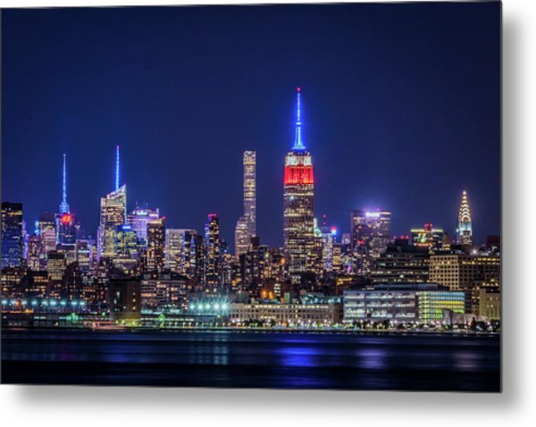 Nyc At The Blue Hour Metal Print