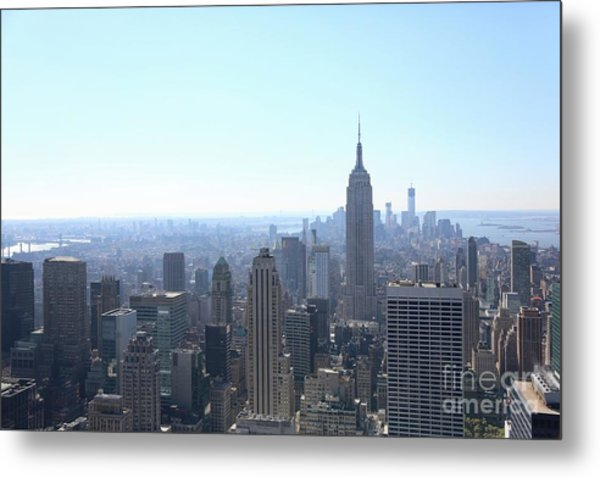 Nyc Skyline Empire State Architecture  Metal Print