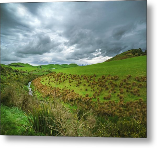 Nz Countryside Metal Print