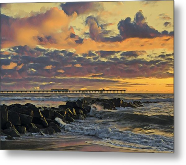 Ob Sunset No. 3 Metal Print