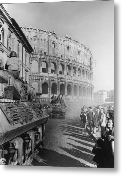 Occupation Of Rome Metal Print by Hulton Archive