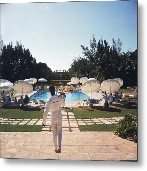 Ocean Club On Paradise Island Metal Print by Slim Aarons