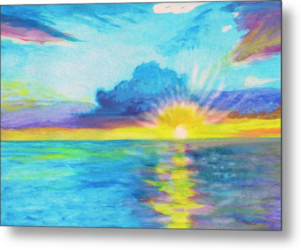 Ocean In The Morning Metal Print