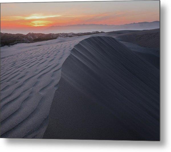 Oceano Dunes Sunset Metal Print