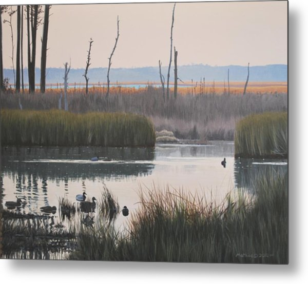 October Reflections Metal Print