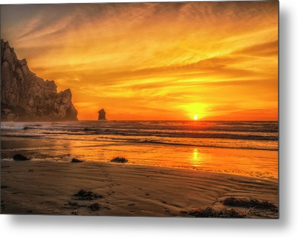 October Sunset Metal Print by Fernando Margolles