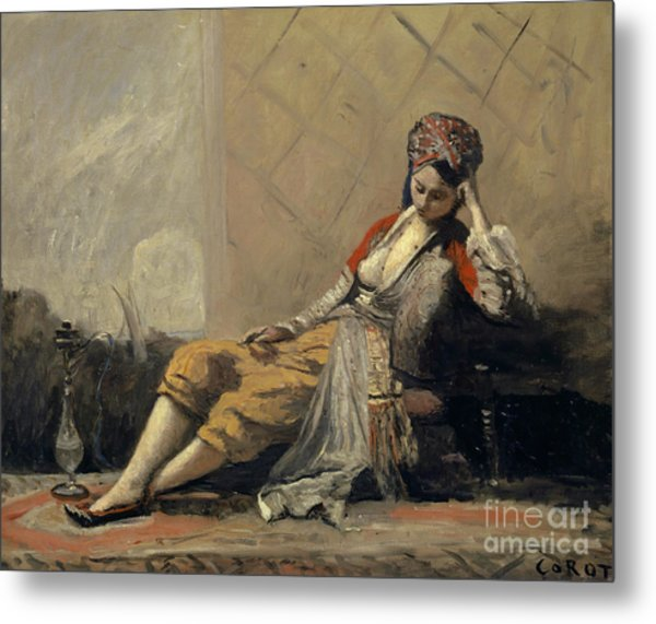 Odalisque By Corot Metal Print