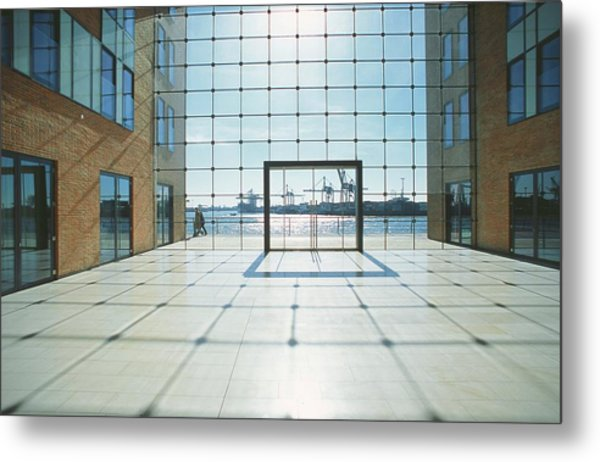 Office Building At Holzhafen 45, Grosse Metal Print by Uwe Steffens