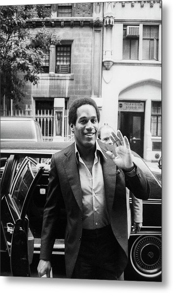 O.j. Simpson Metal Print by Art Zelin