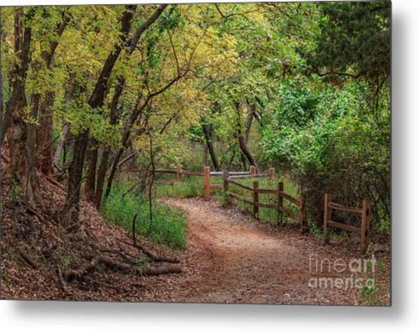 Oklahoma City's Martin Nature Park In Fall Color Metal Print