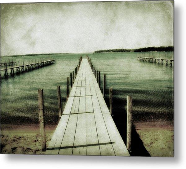 Okoboji Docks Metal Print