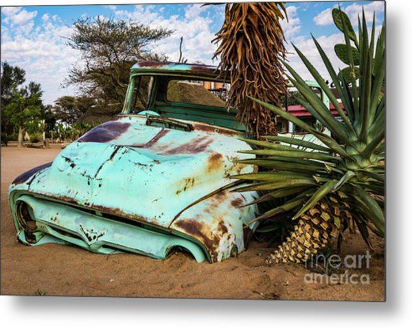 Old And Abandoned Car 2 In Solitaire, Namibia Metal Print