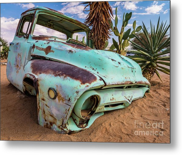 Old And Abandoned Car 7 In Solitaire, Namibia Metal Print
