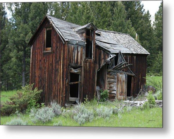 Old Cabin - Elkhorn, Mt Metal Print