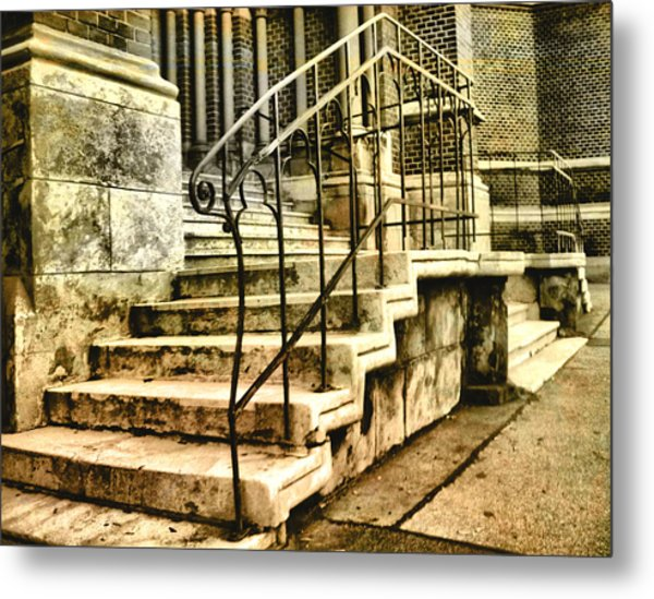Old Church Entrance In Vienna Metal Print