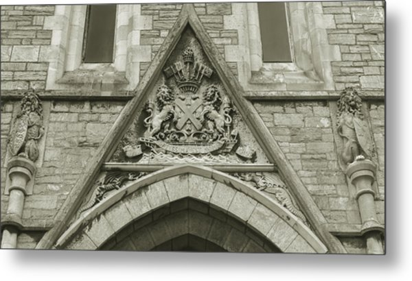 Metal Print featuring the photograph Old Coat Of Arms On Plymouth Guildhall by Jacek Wojnarowski
