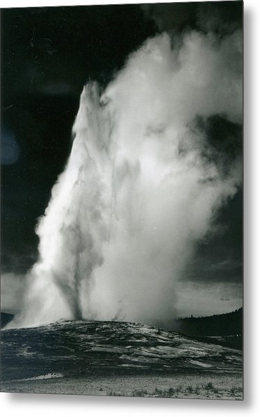 Old Faithful Geyser, Yellowstone Metal Print by Archive Photos
