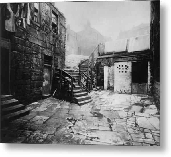 Old Glasgow Close Metal Print by T. R. Annan