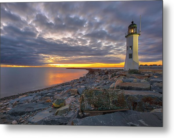 Metal Print featuring the photograph Old Scituate Light by Juergen Roth