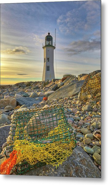 Metal Print featuring the photograph Old Scituate Lighthouse by Juergen Roth