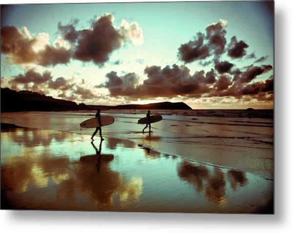 Old Skool Surf Metal Print by Landscapes, Seascapes, Jewellery & Action Photographer