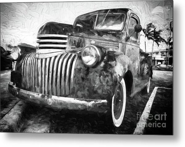 Old Truck  - Painterly Metal Print