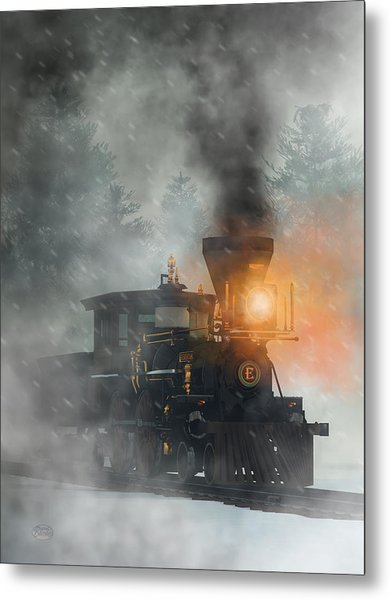 Metal Print featuring the digital art Old West Steam Train  by Daniel Eskridge